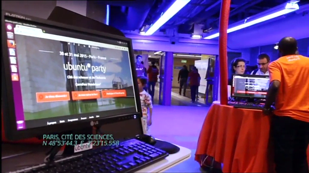 Ubuntu Party Paris in France 4 TV report